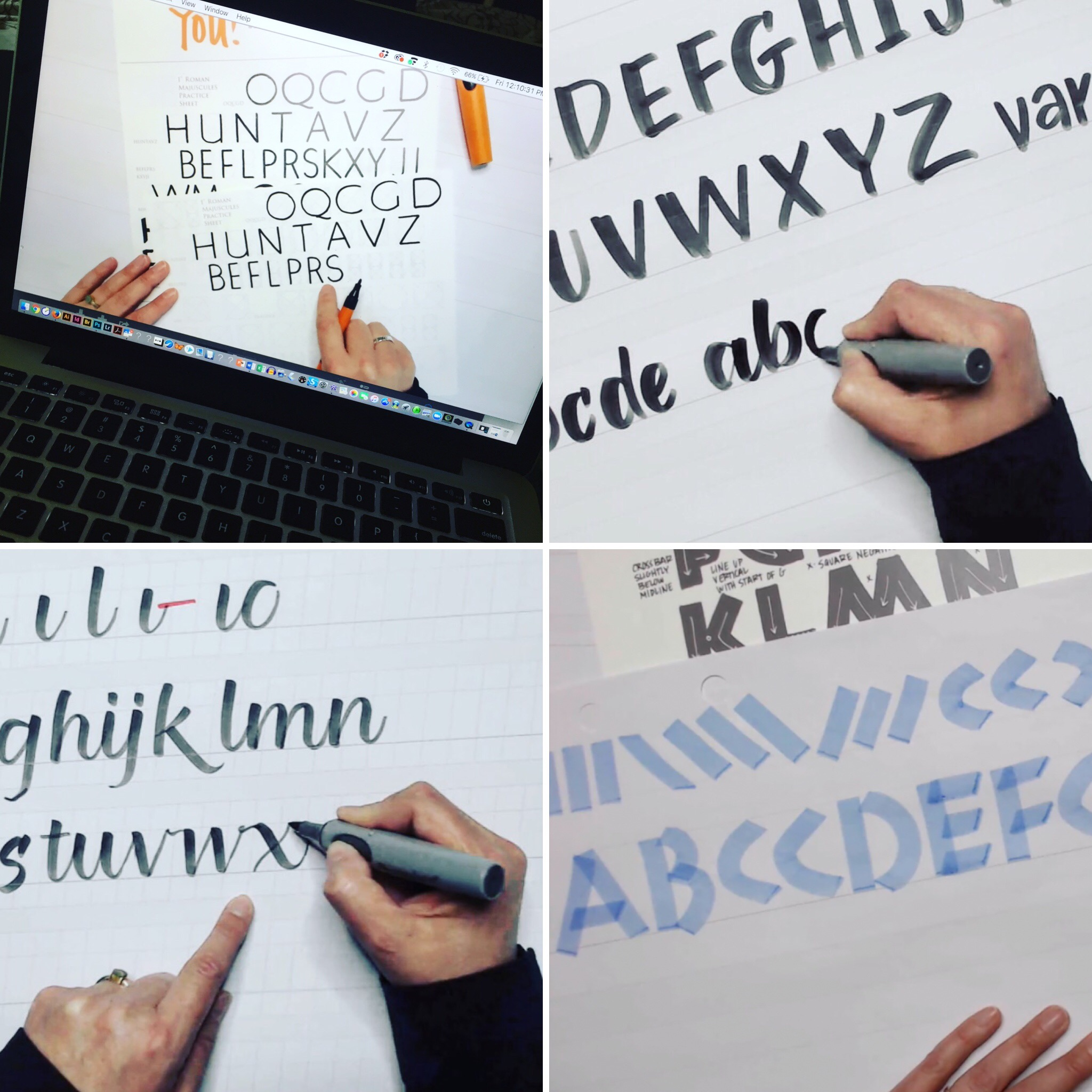 """Unlock Your Neuland Markers"" a free online lettering course at www.LetsLetterTogether.com"