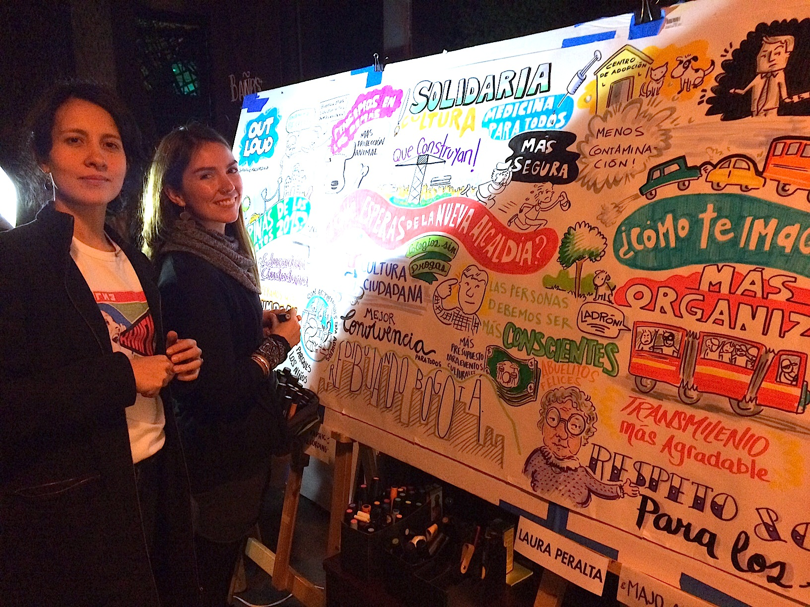 Laura Peralta is my partner in Out Loud Graphic Recording.