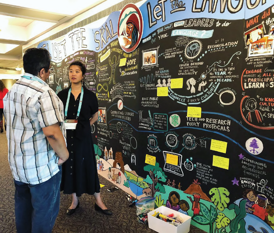 interactive graphic recording, black paper graphic recording, visual notes, acrylic markers, idea wall, live scribing