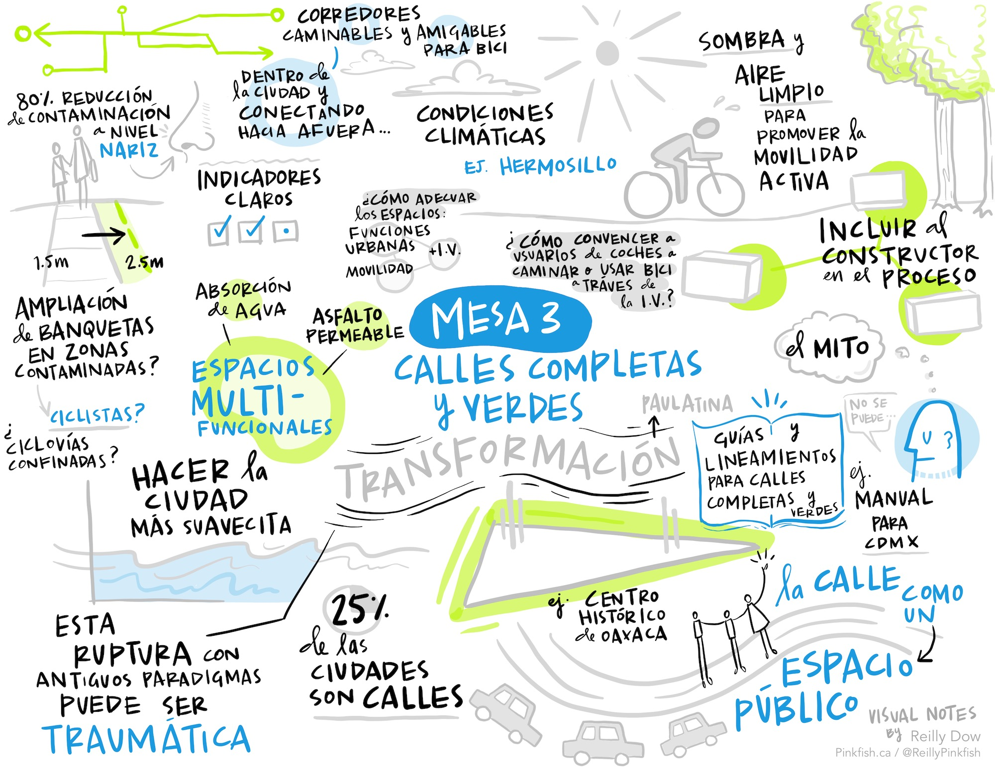 Digital scribing in Spanish on green infrastructure