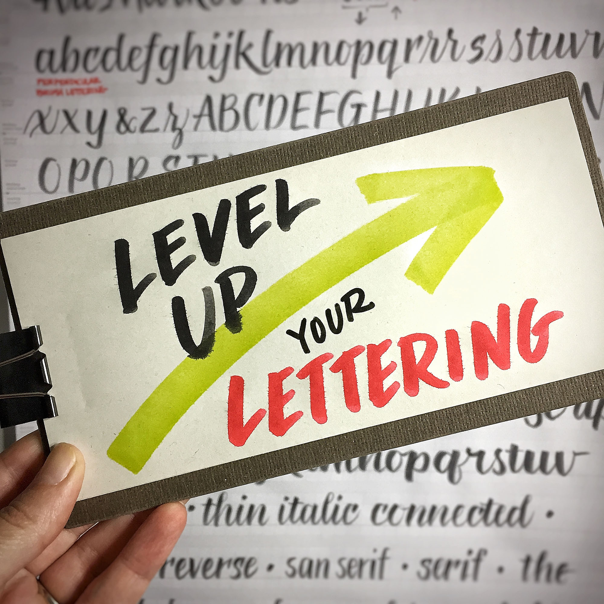 Lettering workshops designed with the visual practitioner in mind.