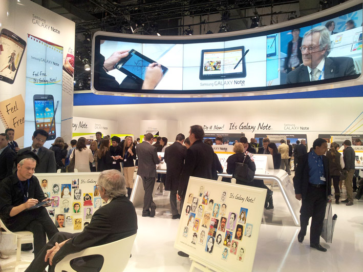 Digital caricatures, Mobile World Congress, Barcelona, 2012