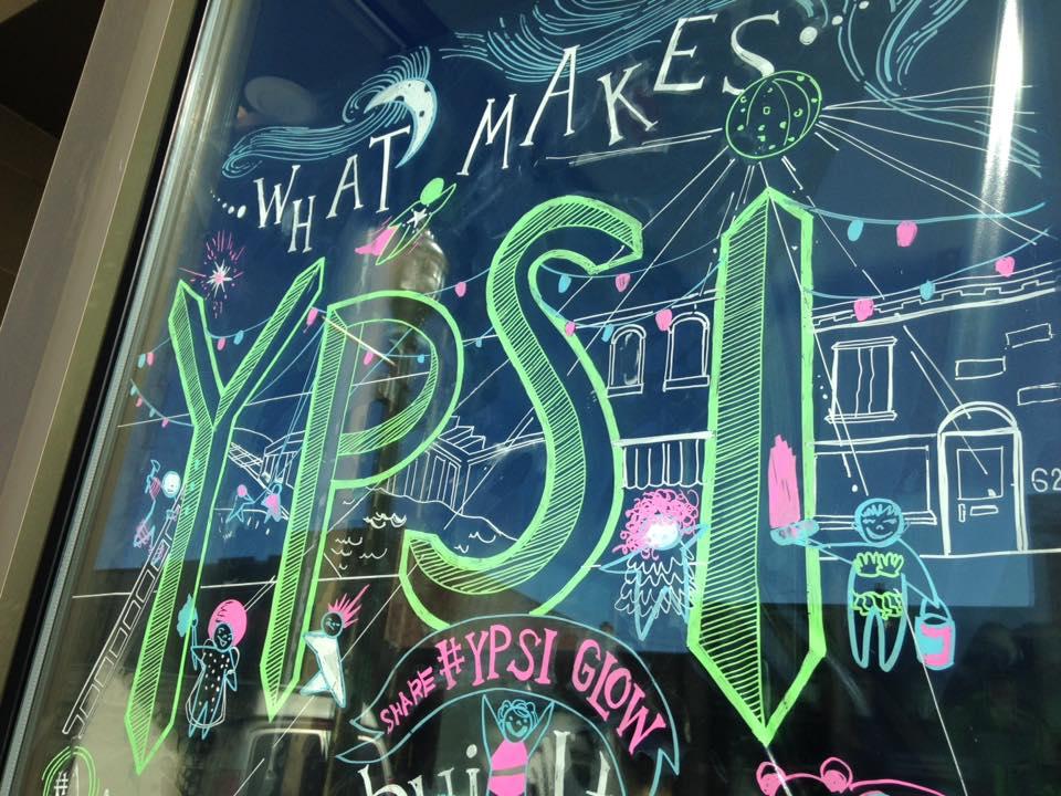 Window illustration graphic recording Ypsilanti Michigan
