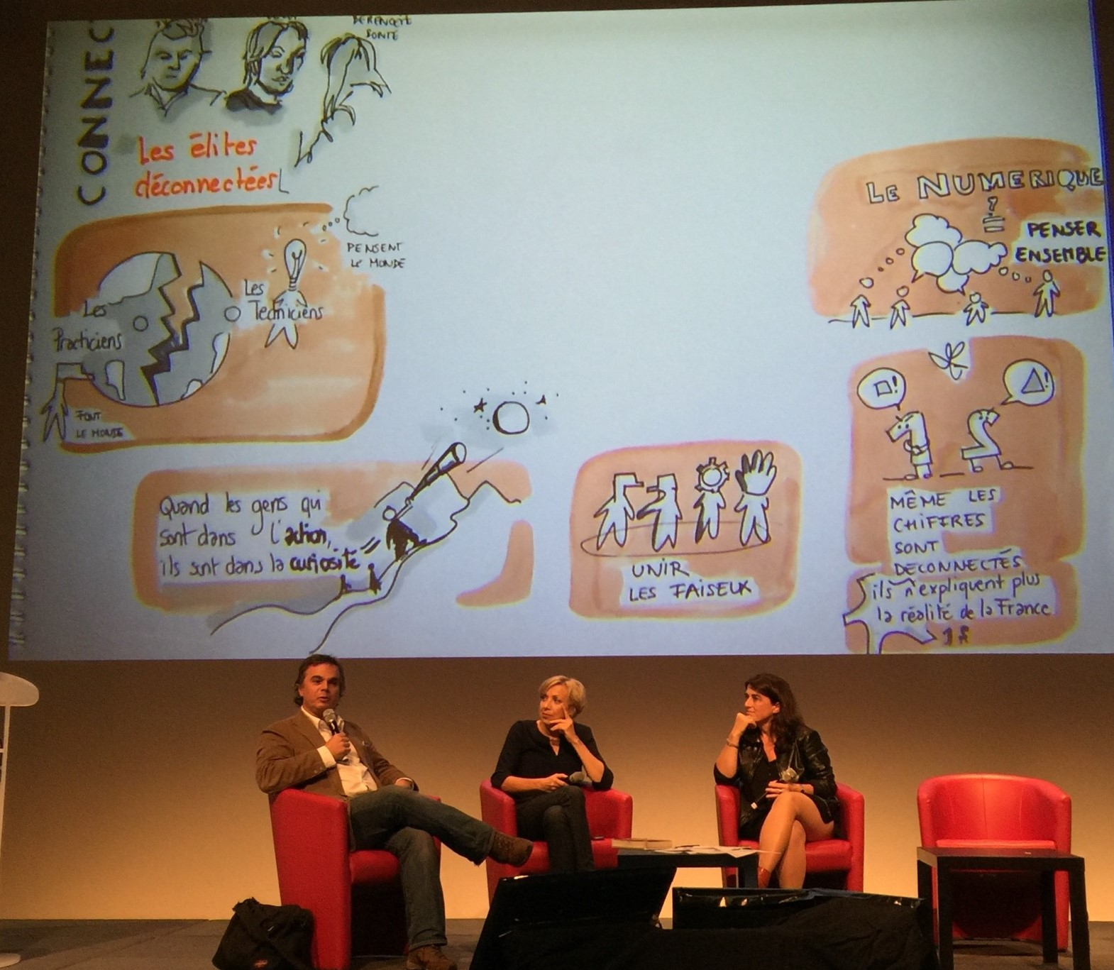 delphine boghos Graphic recording in ManPower and HEC event in Paris