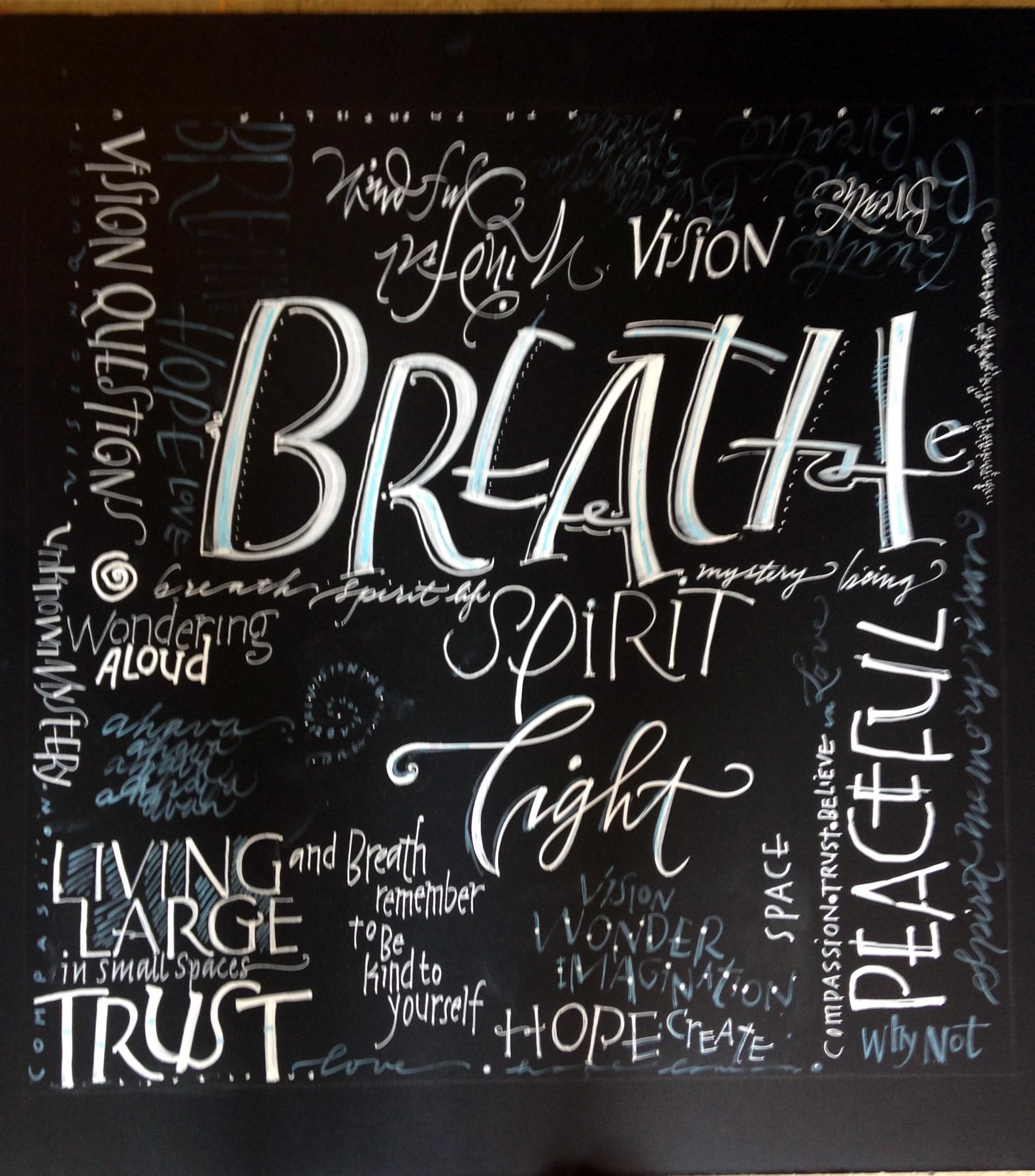 Chalkboard Improvisation: Word Art