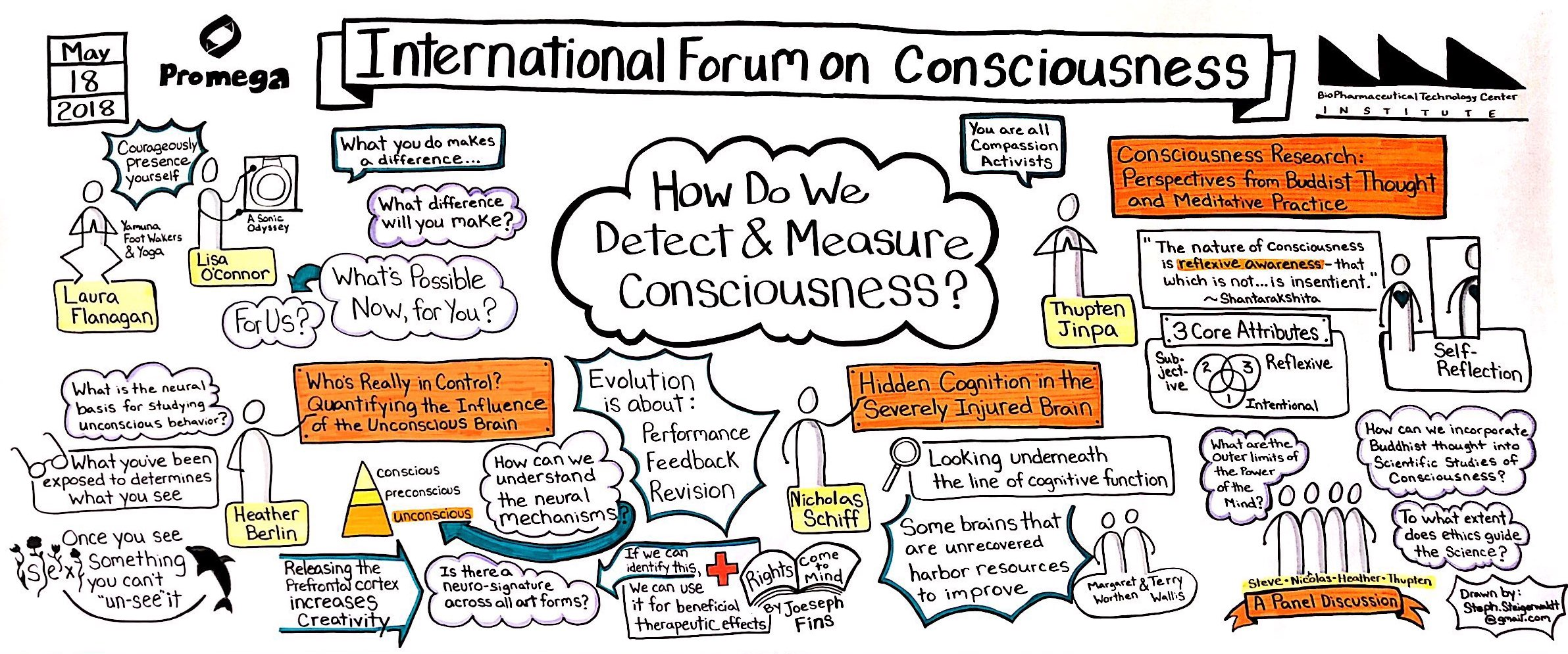 Graphic Recording for International Forum on Consciousness, Day Two, 2018