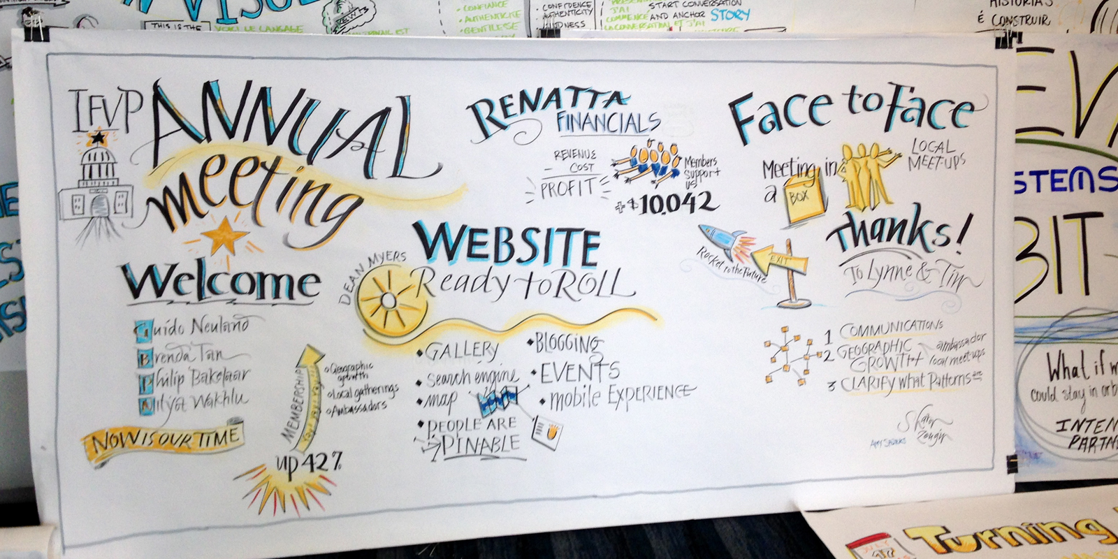 Graphic Recording for IFVP Annual Meeting at Austin conference