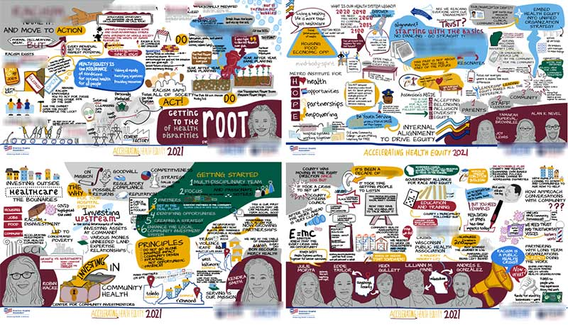 These Live Streamed Graphic Recordings were shared Live on YouTube