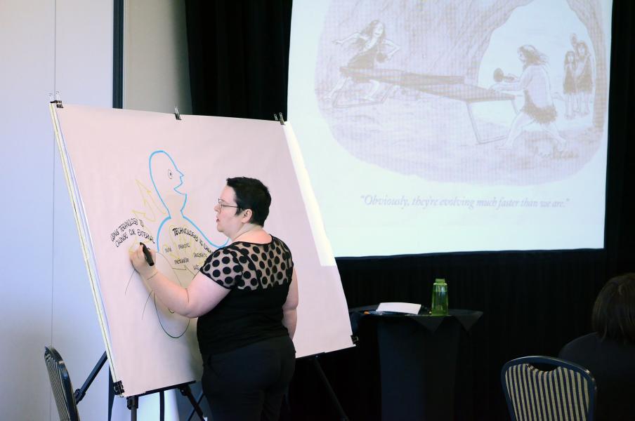 Mapping Joel Garreau's opening keynote at IFVP 2015 in Austin