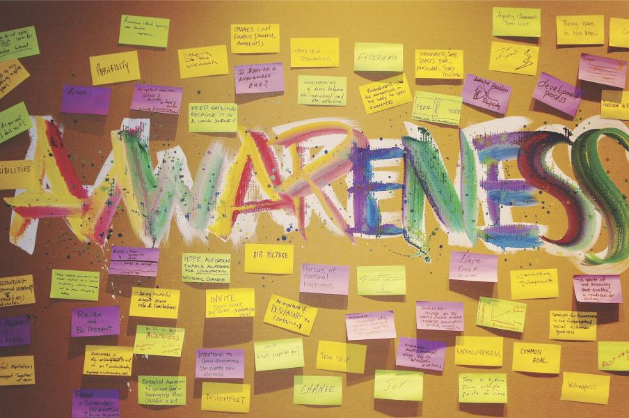 Grafitti style with post-its