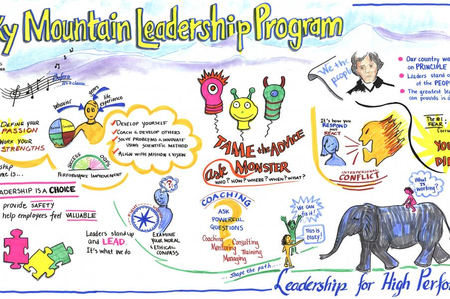 Summary map live at last day of a leadership program