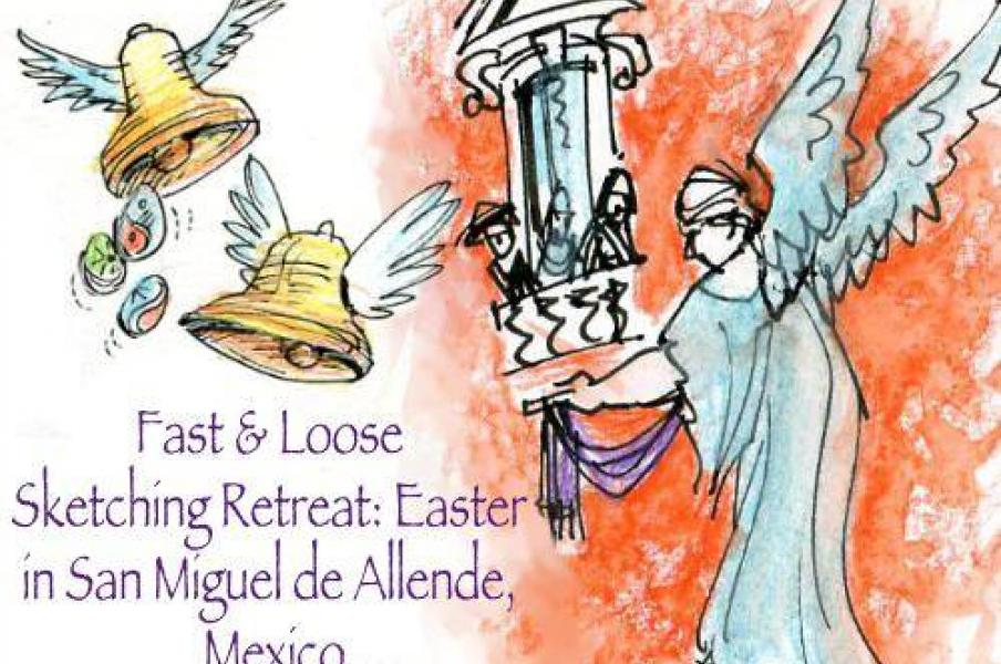 Rhoda Draws and Christina Merkley Host Fast and Loose Sketching, Easter Retreat