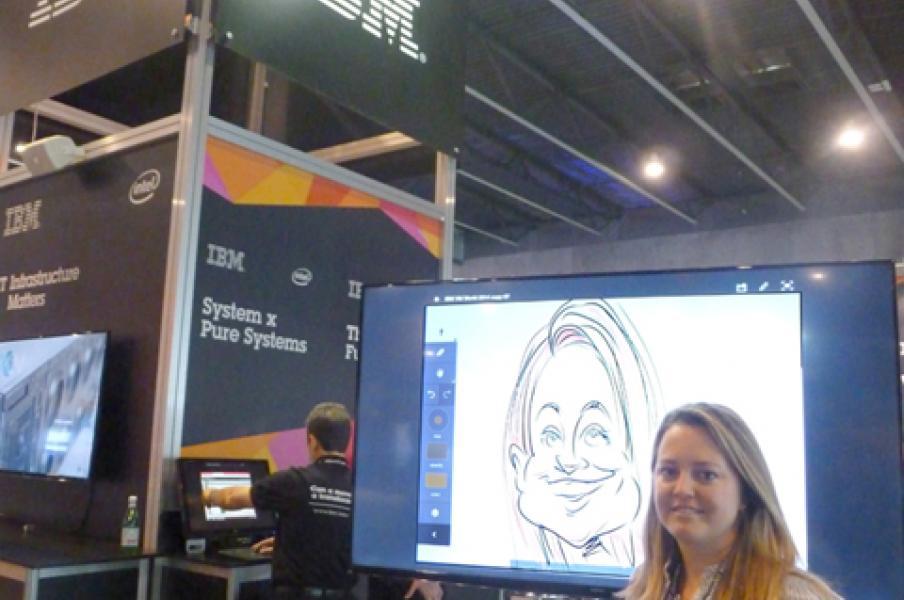 Digital caricatures, IBM, Barcelona, October 2015