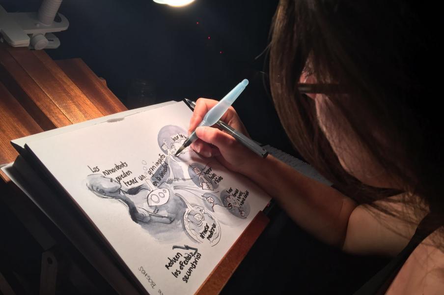 delphine boghos Graphic recording in TedxTarragona