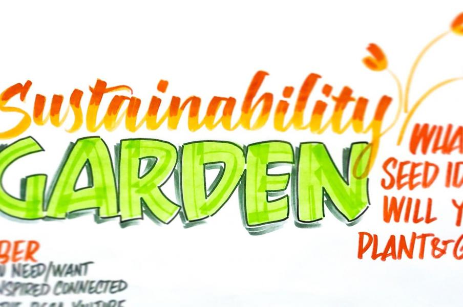 We all know that Parking Lots are where great ideas go to die. Use a Sustainability Garden instead!