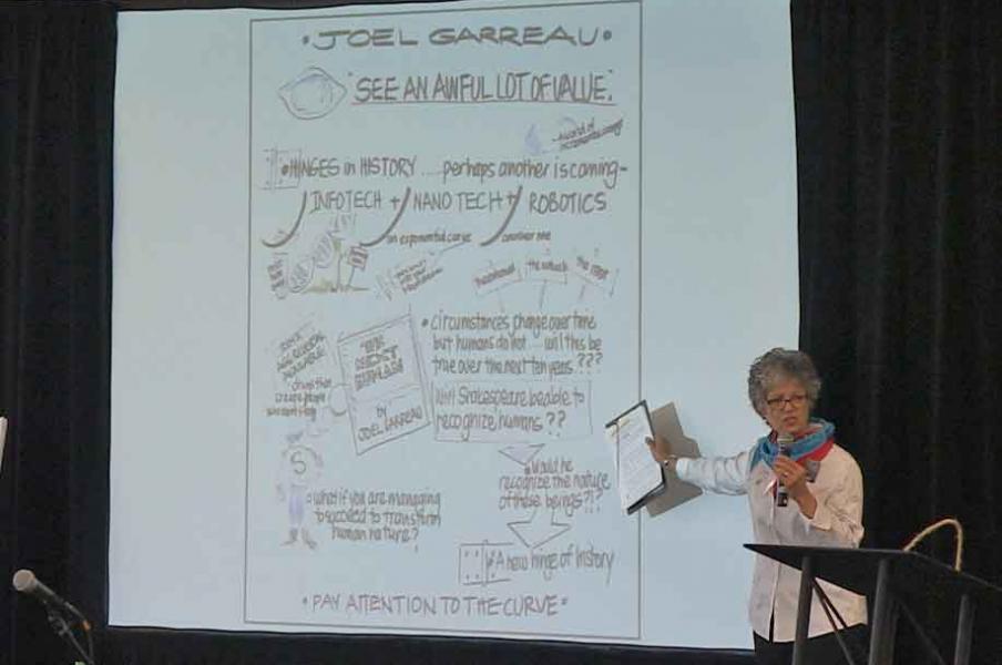 Lynn Carruthers introduces Joel Garreau