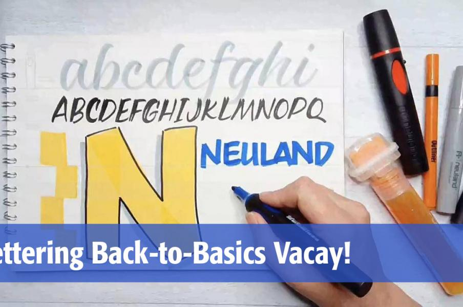 Lettering Back to Basics Vacay