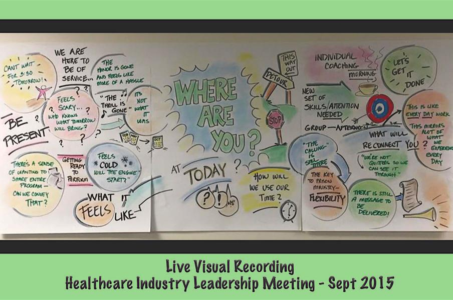 Live Visual 2.5' X 6' |Recording of Healthcare Leaders.Sept 2016