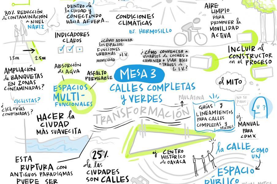 Digital scribing in Spanish on green infrastructure