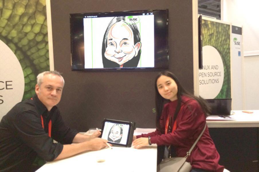 Digital caricatures, Cisco Live, Milan, January 2015