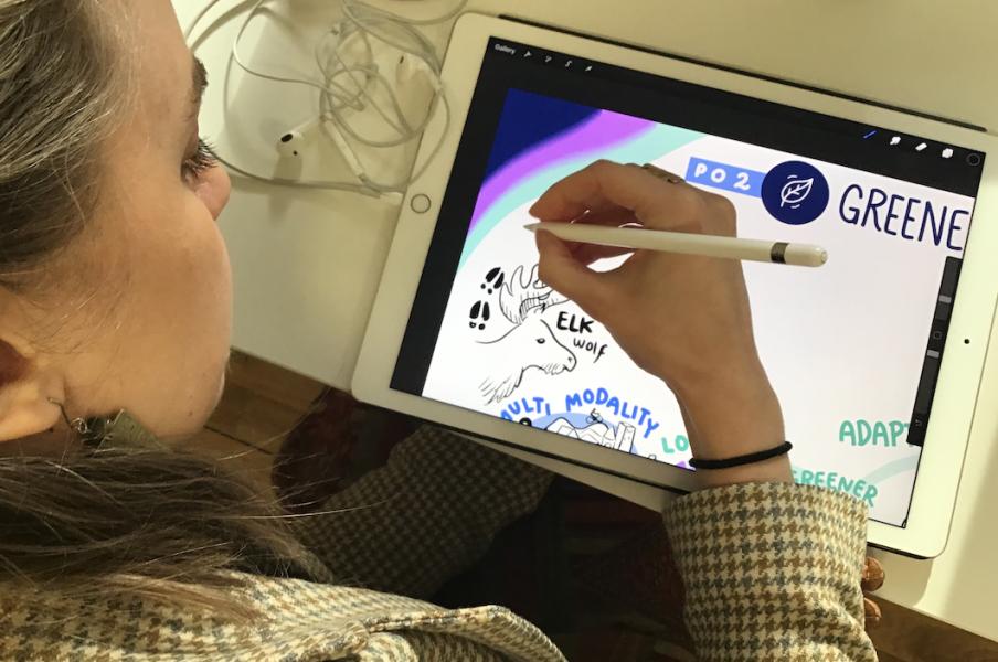 Nikki Big Brain Agency Interreg Aurora Live Scribing 2021