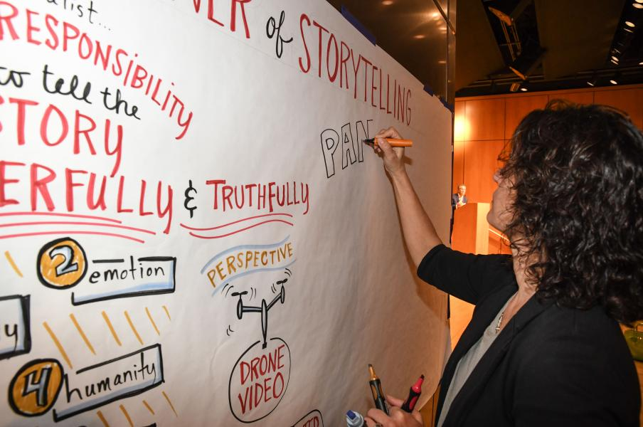 Graphic recording by Julia Reich of Stone Soup Creative