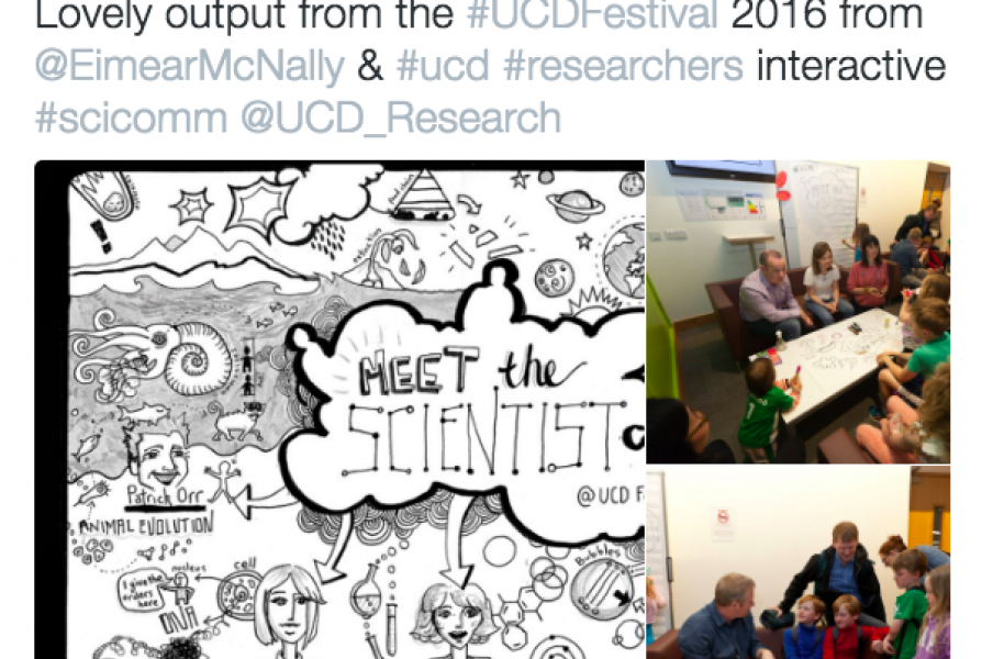 Tweet from UCD Science Festival