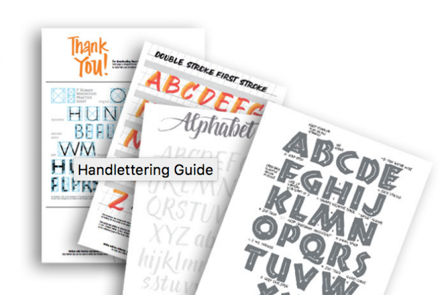 Lettering styles designed with the visual practitioner in mind.