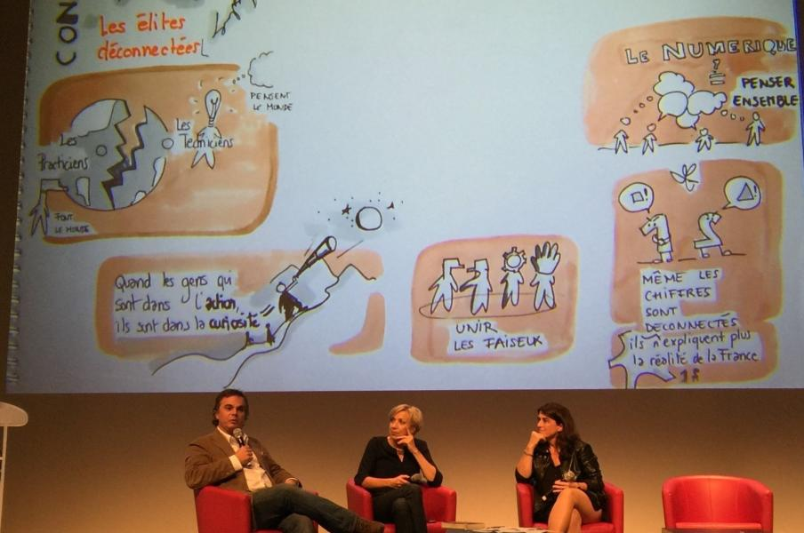 delphine boghos Graphic recording in ManPower and HEC event in Paris