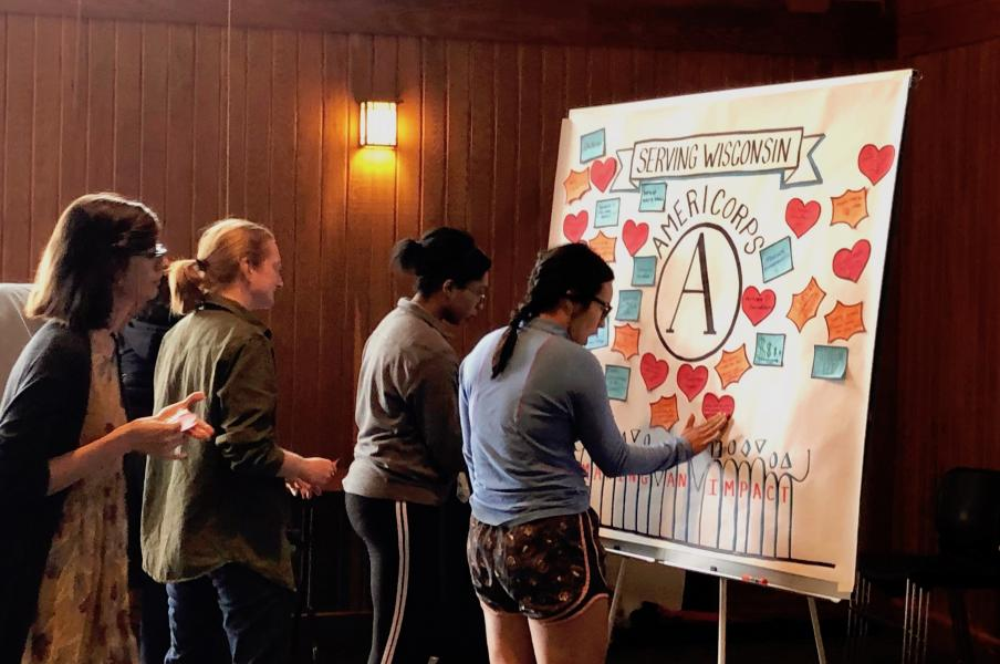 Graphic Engagement Year End Reflection for AmeriCorps, 2019