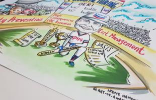 Caricature Farewell Gift for CEO of Chevron
