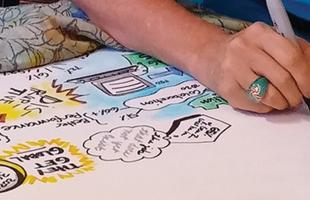 keynote graphic recording, Phoenix, AZ