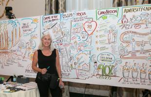 Christine Walker, SeeShape.com, at America's Promise Community Convention.