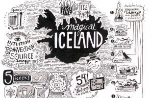 Graphic Storytelling, Graphic Recording, Iceland, Magic