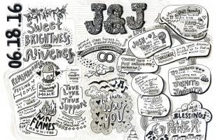 Graphic Storytelling, Graphic Recording, Wedding, Love